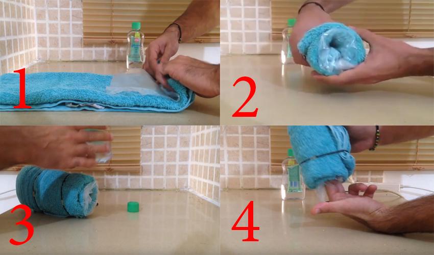 Cách làm âm đạo giả tại nhà bằng khăn và tấm nilong