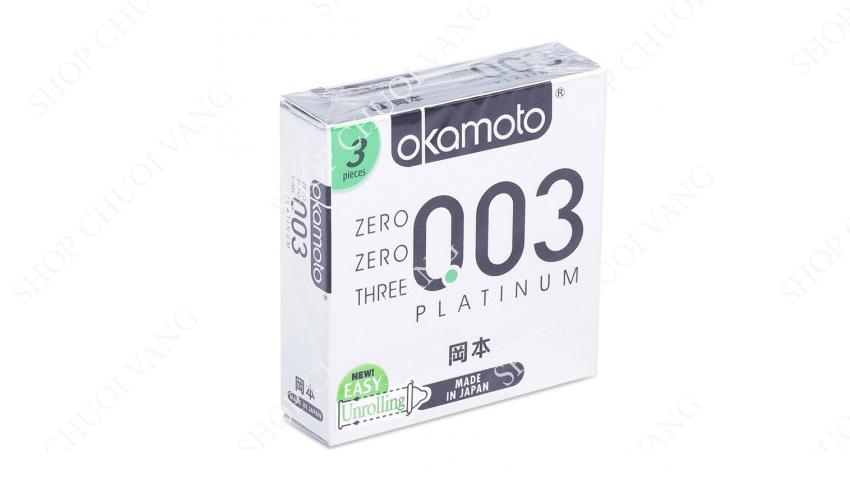 Bao cao su cao cấp Okamoto 0.03 Platinum