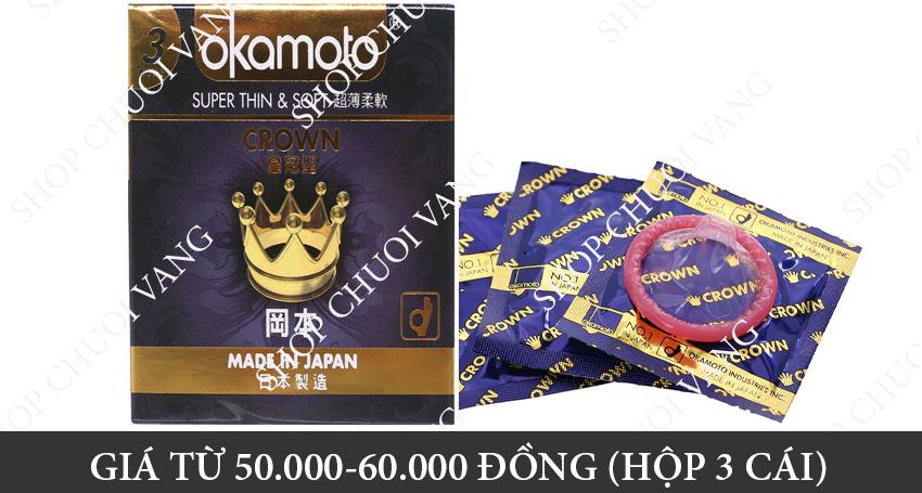 Giá Bao cao su Okamoto Crown