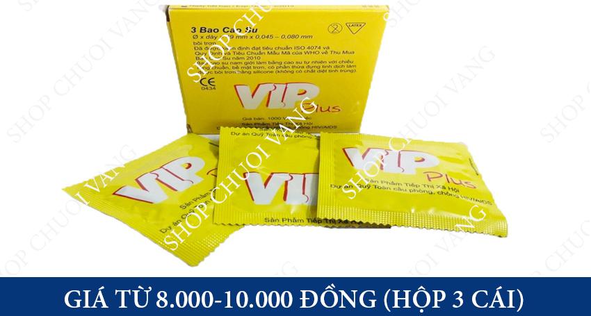 giá Bao cao su Vip Plus